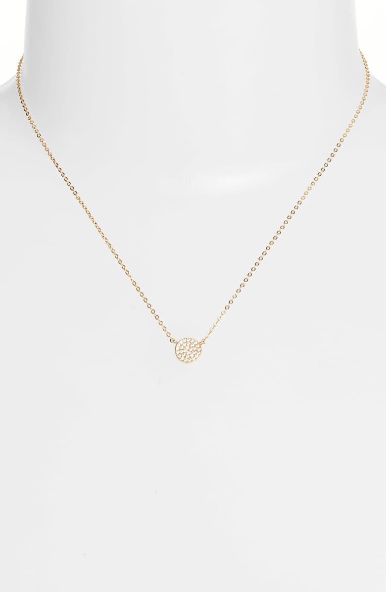 Pavé Disc Pendant Necklace from Nordstrom dress for Zoom Meetings